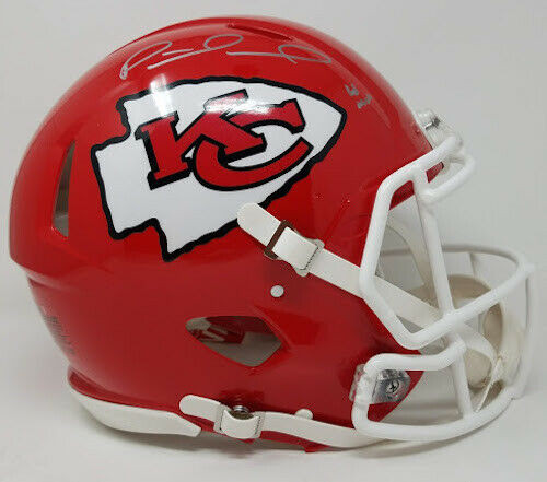 "PATRICK MAHOMES Autographed ""18 MVP"" Kansas City Chiefs Full Size Speed Authentic Helmet STEINER LE 18"