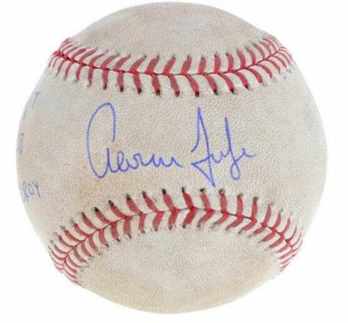 AARON JUDGE New York Yankees Autographed Rookie Season Game-Used Baseball FANATICS