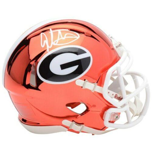 TODD GURLEY Autographed Georgia Bulldogs Speed Chrome Mini Helmet FANATICS