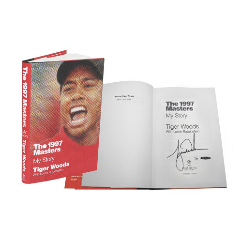 "TIGER WOODS Autographed Book ""1997 Masters: My Story"" UDA Limited Edition of 25"