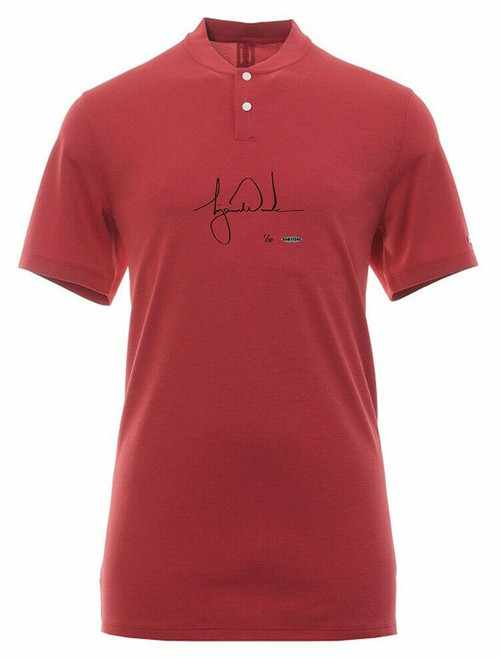 TIGER WOODS Autographed Red Vapor Aeroreact Blade OLC Sunday Shirt UDA Limited Edition of 50