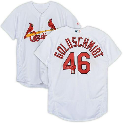 PAUL GOLDSCHMIDT Autographed St. Louis Cardinals Majestic Authentic Jersey FANATICS