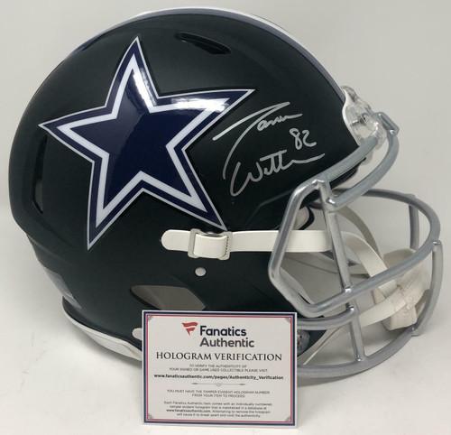 JASON WITTEN Autographed Dallas Cowboys Proline Authentic Black Matte Speed Helmet FANATICS