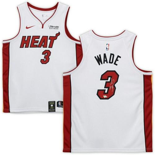 DWYANE WADE Autographed Miami Heat White Swingman Jersey FANATICS