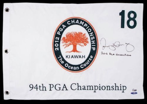 RORY McILROY Hand Signed & Inscribed 2012 PGA Flag UDA Limited Edition of 100