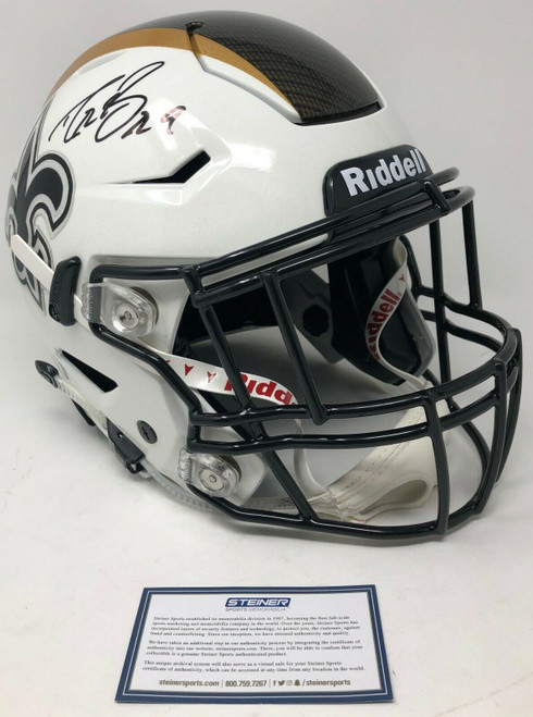 DREW BREES Autographed New Orleans Saints Authentic Riddell Speed Flex Hydro Dipped Helmet STEINER