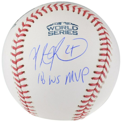 "STEVE PEARCE Autographed / Inscribed Boston Red Sox ""18 WS MVP"" Official 2018 World Series Baseball FANATICS"