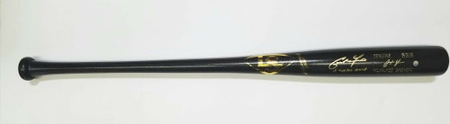 "CHRISTIAN YELICH Autographed ""2 Cycles 2018"" Milwaukee Brewers Louisville Slugger Game Model Bat STEINER"