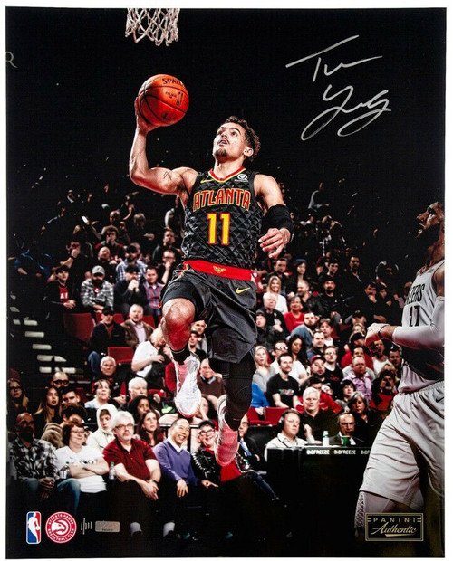 """TRAE YOUNG Autographed Atlanta Hawks """"Clean Look"""" 16"""" x 20"""" Photograph PANINI Limited Edition of 111"""
