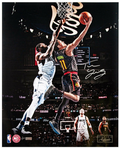 """TRAE YOUNG Autographed Atlanta Hawks """"Reverse"""" 16"""" x 20"""" Photograph PANINI Limited Edition of 111"""
