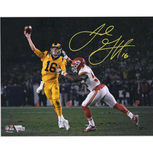 "JARED GOFF Autographed Los Angeles Rams 11"" x 14"" Spotlight Photograph FANATICS"
