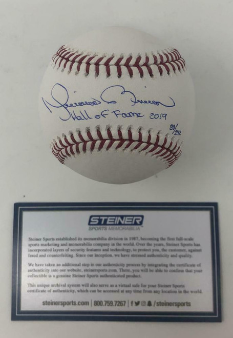 """MARIANO RIVERA Autographed """"Hall Of Fame 2019"""" Official Baseball STEINER"""