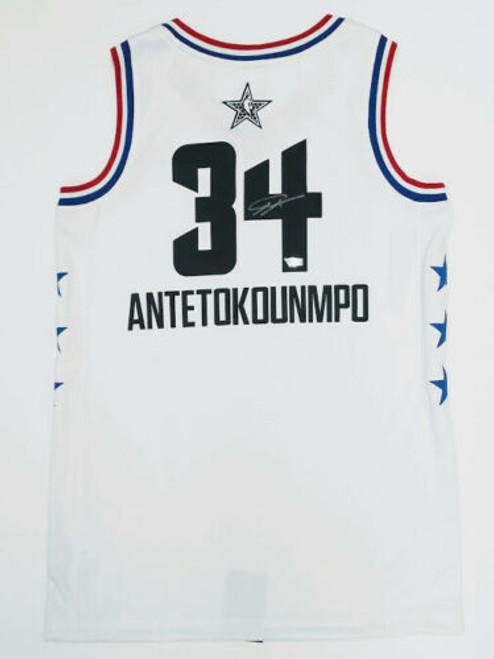 GIANNIS ANTETOKOUNMPO Autographed Milwaukee Bucks 2019 All Star Jersey FANATICS