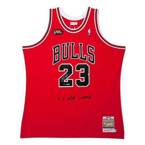 MICHAEL JORDAN Autographed Bulls 1997-98 NBA Finals Authentic Jersey UDA LE 123