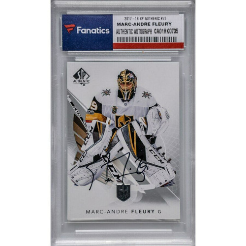MARC-ANDRE FLEURY Autographed Las Vegas Golden Knights Trading Card FANATICS