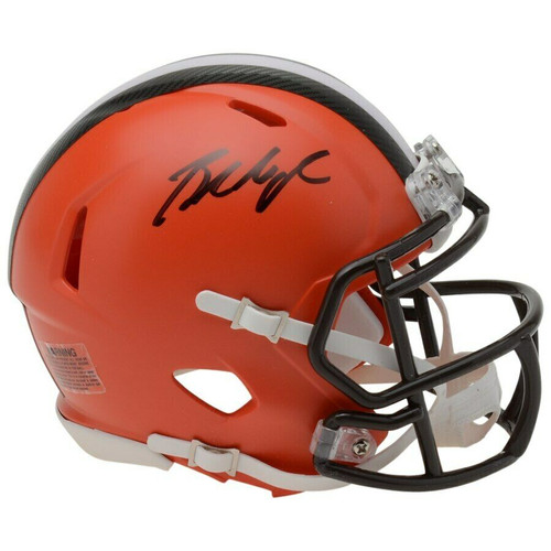 BAKER MAYFIELD Autographed Cleveland Browns Mini Speed Helmet FANATICS