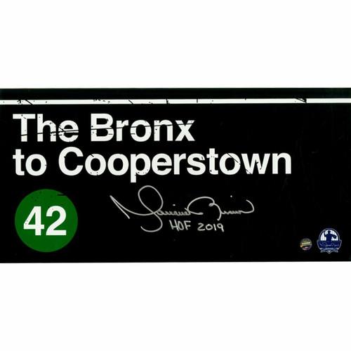"MARIANO RIVERA New York Yankees Signed 'Bronx to Cooperstown' ""HOF 2019"" 6"" x 12"" Photo STEINER"