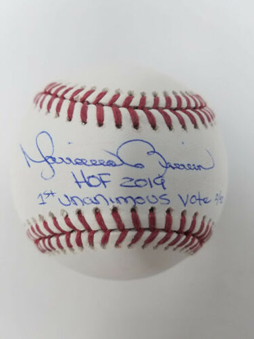 """MARIANO RIVERA New York Yankees Signed """"HOF 2019"""" & """"1st Unanimous Vote"""" Baseball STEINER LE 42"""