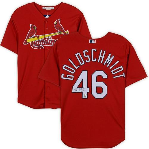 PAUL GOLDSCHMIDT Autographed St. Louis Cardinals Majestic Red Jersey FANATICS