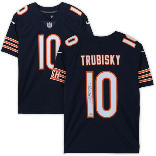 MITCHELL TRUBISKY Autographed Chicago Bears Limited Nike Jersey FANATICS