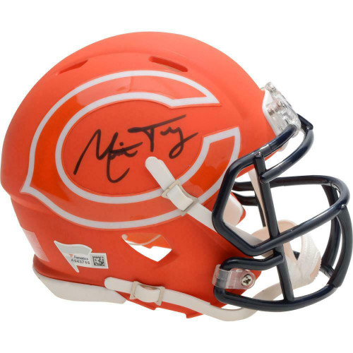 MITCHELL TRUBISKY Autographed Chicago Bears AMP Mini Speed Helmet FANATICS