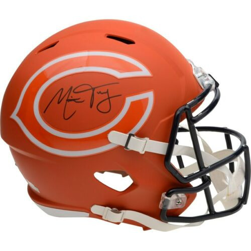 MITCHELL TRUBISKY Autographed Chicago Bears AMP Speed Helmet FANATICS