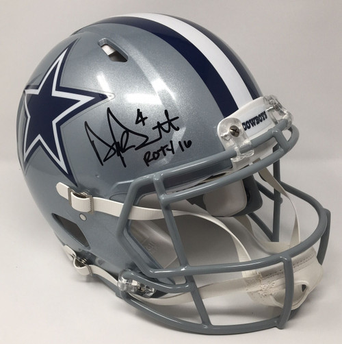 "DAK PRESCOTT Dallas Cowboys Signed / Inscribed ""ROTY 16"" Authentic Helmet STEINER LE 4/104"