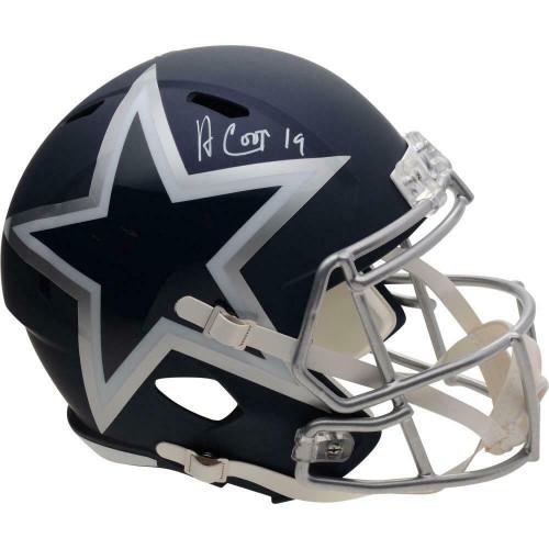 AMARI COOPER Autographed Dallas Cowboys Speed Amp Full Size Helmet FANATICS