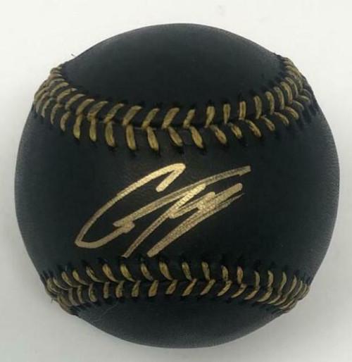 GLEYBER TORRES Autographed New York Yankees Black Leather Baseball FANATICS