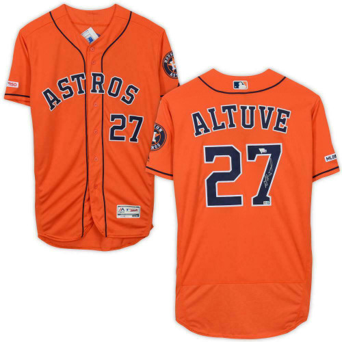 JOSE ALTUVE Autographed Houston Astros Authentic Orange Jersey FANATICS