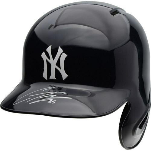 GLEYBER TORRES Autographed New York Yankees Batting Helmet FANATICS