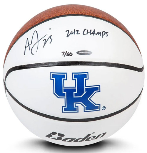ANTHONY DAVIS Autographed & Inscribed Baden University Of Kentucky Basketball Limited to 50 UDA
