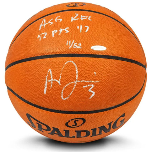 ANTHONY DAVIS Autographed & Inscribed Authentic Spalding Basketball Limited to 52 UDA