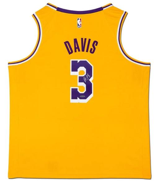ANTHONY DAVIS Autographed Los Angeles Lakers Gold Swingman Jersey UDA