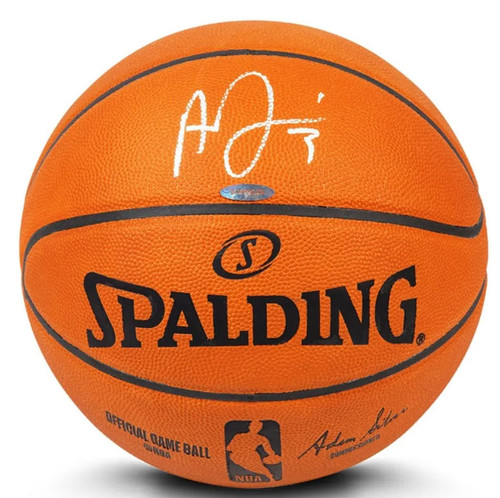 ANTHONY DAVIS Autographed Los Angeles Lakers Authentic Spalding Basketball UDA