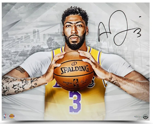 "ANTHONY DAVIS Autographed  Los Angeles Lakers ""A New Era"" 20"" x 16"" Photo UDA"