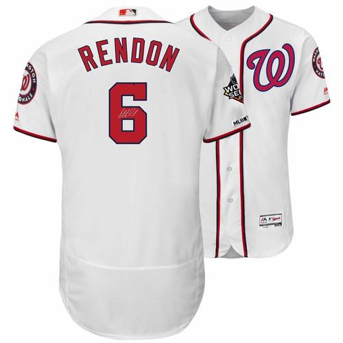 ANTHONY RENDON Washington Nationals Autographed 2019 World Series Champions White Majestic Authentic Jersey FANATICS