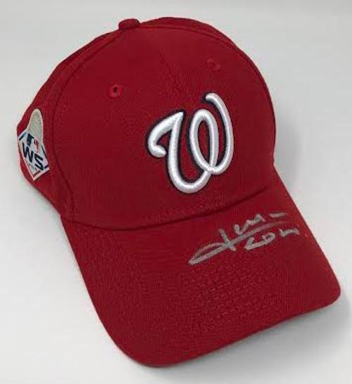 JUAN SOTO Washington Nationals Autographed 2019 World Series Champions New Era Baseball Cap FANATICS