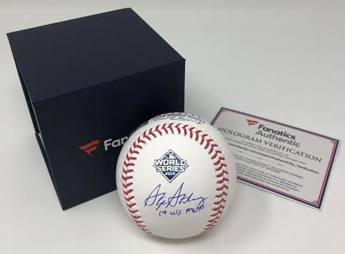"STEPHEN STRASBURG Washington Nationals Autographed 2019 World Series Champions Baseball with ""19 WS MVP"" Inscription FANATICS"