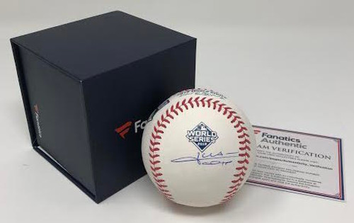 JUAN SOTO Autographed Washington Nationals World Series Baseball FANATICS
