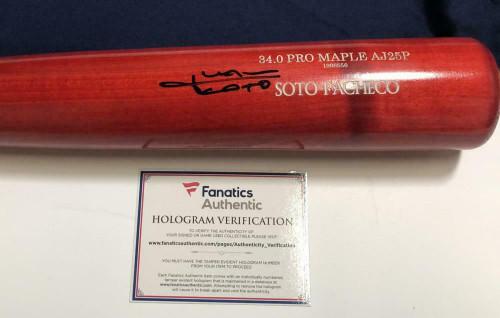 JUAN SOTO Autographed Washington Nationals Players Weekend Bat FANATICS