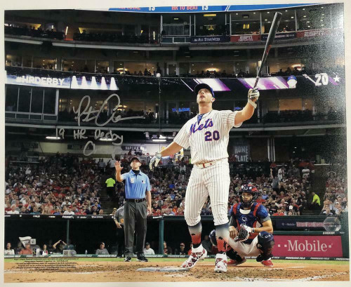 """PETE ALONSO Autographed NY Mets """"19 HR Derby Champ"""" 16 x 20 Photograph FANATICS"""