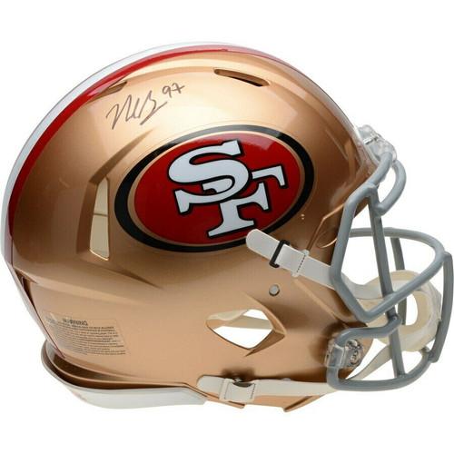NICK BOSA Autographed San Francisco 49ers Authentic Speed Helmet FANATICS
