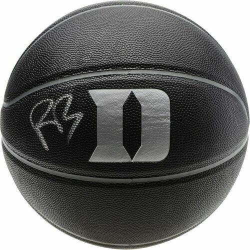 R.J. BARRETT Autographed Duke Blue Devils Blackout Basketball FANATICS