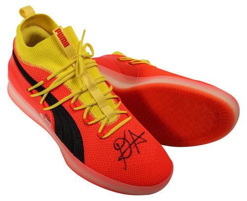 DEANDRE AYTON Autographed 2018 NBA #1 Pick Puma Clyde Court Shoes GDL LE 22/22