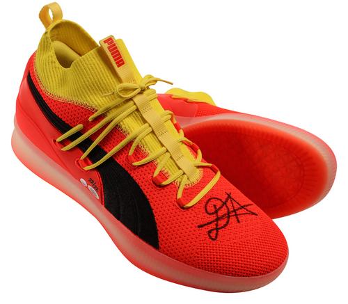 DEANDRE AYTON Autographed Suns Time To Rise Puma Clyde Court Shoes GDL LE 22/22