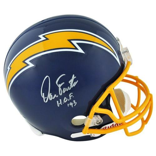 "DAN FOUTS Autographed ""HOF '93"" San Diego Chargers Full Size Helmet FANATICS"