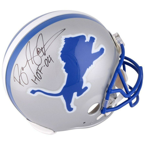 """BARRY SANDERS Autographed """"HOF '04"""" Detroit Lions Proline Helmet FANATICS"""