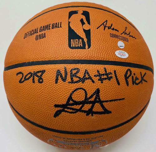 DEANDRE AYTON Autographed 2018 NBA #1 Pick Authentic Basketball GDL LE 22/22