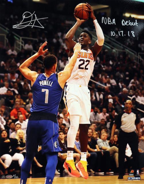 """DEANDRE AYTON Autographed """"NBA Debut 10/17/18"""" 16"""" x 20"""" Photograph GDL LE 1/22"""